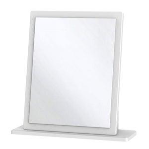 Knightsbridge White Small Mirror