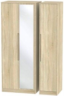 Monaco Bardolino 3 Door Tall Mirror Wardrobe