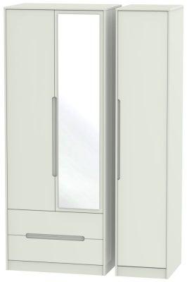 Monaco Kaschmir Matt 3 Door 2 Left Drawer Tall Combi Wardrobe
