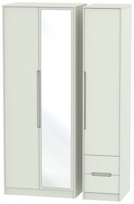 Monaco Kaschmir Matt 3 Door 2 Right Drawer Tall Combi Wardrobe