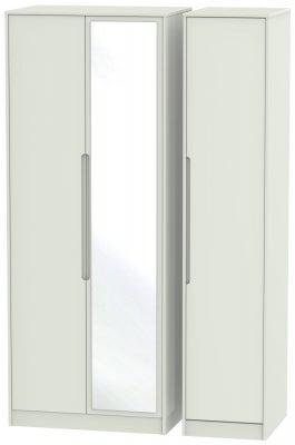 Monaco Kaschmir Matt 3 Door Tall Mirror Wardrobe