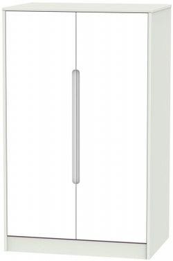 Monaco 2 Door Midi Wardrobe - White and Kaschmir