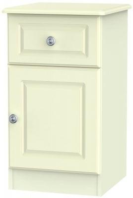 Pembroke Cream 1 Door 1 Drawer Bedside Cabinet