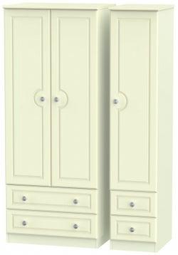 Pembroke Cream 3 Door 4 Drawer Wardrobe