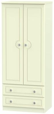 Pembroke Cream 2 Door 2 Drawer 2ft 6in Wardrobe
