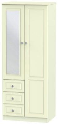 Pembroke Cream 2 Door 3 Drawer Wardrobe