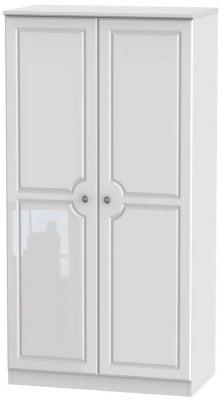 Pembroke High Gloss White 2 Door 3ft Plain Wardrobe
