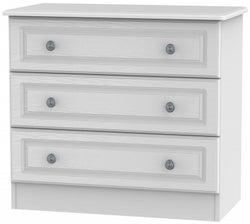 Pembroke White 3 Drawer Chest