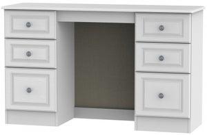 Pembroke White Double Pedestal Dressing Table