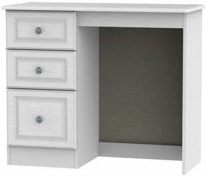 Pembroke White Single Pedestal Dressing Table