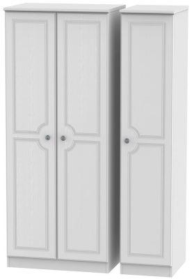 Pembroke White 3 Door Plain Wardrobe