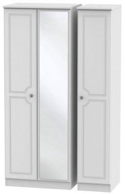 Pembroke White 3 Door Tall Mirror Wardrobe