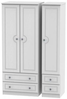 Pembroke White 3 Door 4 Drawer Wardrobe