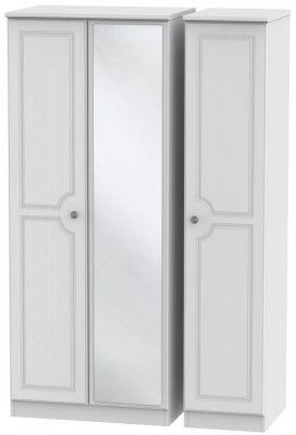 Pembroke White 3 Door Mirror Wardrobe