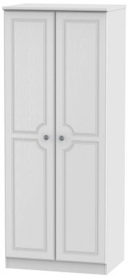 Pembroke White 2 Door 2ft 6in Plain Wardrobe