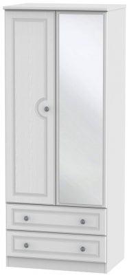 Pembroke White 2 Door Mirror Combi Wardrobe