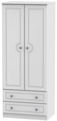 Pembroke White 2 Door 2 Drawer 2ft 6in Wardrobe