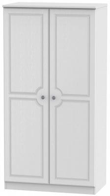 Pembroke White 2 Door 3ft Plain Wardrobe