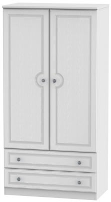 Pembroke White 2 Door 2 Drawer 3ft Wardrobe