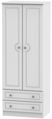 Pembroke White 2 Door 2 Drawer Tall Wardrobe