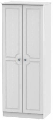 Pembroke White 2 Door Tall Hanging Wardrobe