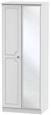 Pembroke White 2 Door Tall Mirror Wardrobe