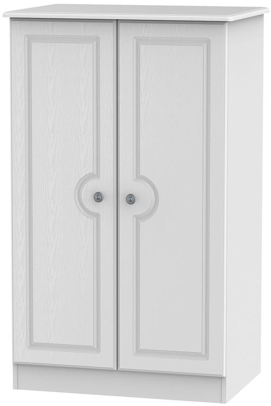 Pembroke White 2 Door Plain Midi Wardrobe