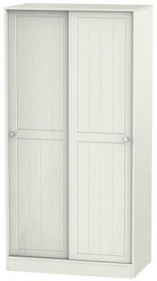 Rome 2 Door Sliding Wardrobe - Bordeaux Oak and Kaschmir Ash