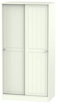 Rome 2 Door Sliding Wardrobe - Bordeaux Oak and Porcelain Ash