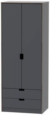 Shanghai Graphite 2 Door 2 Drawer Wardrobe