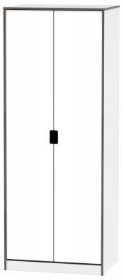 Shanghai High Gloss White 2 Door Wardrobe