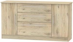 Sherwood Bordeaux Oak 2 Door 3 Drawer Wide Sideboard