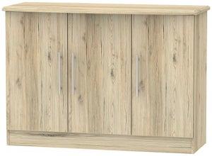 Sherwood Bordeaux Oak 3 Door Narrow Sideboard