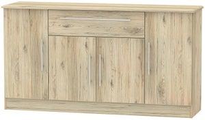 Sherwood Bordeaux Oak 4 Door 1 Drawer Wide Sideboard