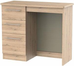 Sherwood Bordeaux Oak Single Pedestal Dressing Table