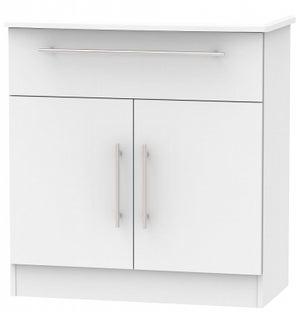 Sherwood Grey Matt 2 Door 1 Drawer Narrow Sideboard