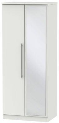 Sherwood Grey Matt 2 Door Mirror Wardrobe