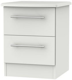 Sherwood Grey Matt 2 Drawer Bedside Cabinet