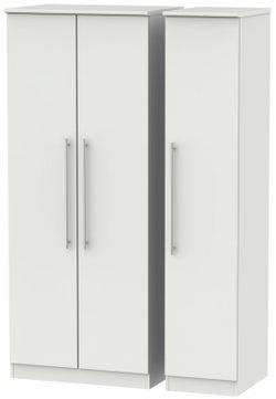Sherwood Grey Matt 3 Door Mirror Wardrobe