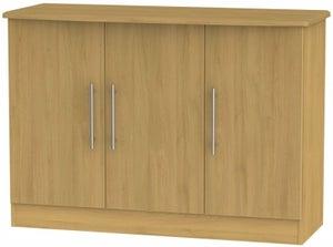 Sherwood Modern Oak 3 Door Narrow Sideboard