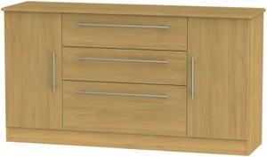 Sherwood Modern Oak 2 Door 3 Drawer Wide Sideboard