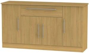 Sherwood Modern Oak 4 Door 1 Drawer Wide Sideboard