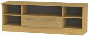 Sherwood Modern Oak 1 Drawer Wide Open TV Unit