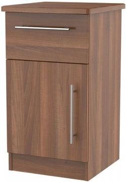 Sherwood Noche Walnut 1 Door 1 Drawer Cabinet