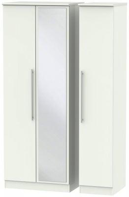 Sherwood Porcelain Matt 3 Door Tall Mirror Wardrobe