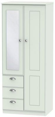Victoria Grey Matt 2 Door 3 Drawer Combi Wardrobe