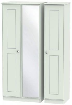 Victoria Grey Matt 3 Door Mirror Wardrobe