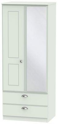 Victoria Grey Matt 2 Door Combi Wardrobe