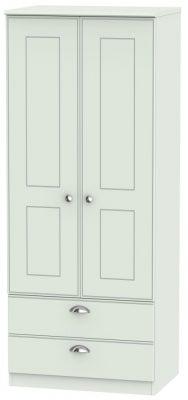 Victoria Grey Matt 2 Door 2 Drawer Wardrobe