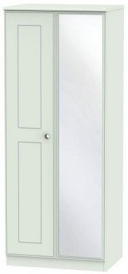 Victoria Grey Matt 2 Door Mirror Wardrobe